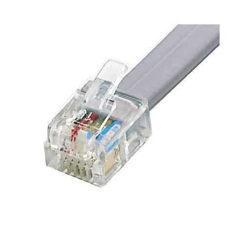 Telephone Plug RJ11 6 Position 6 Contact