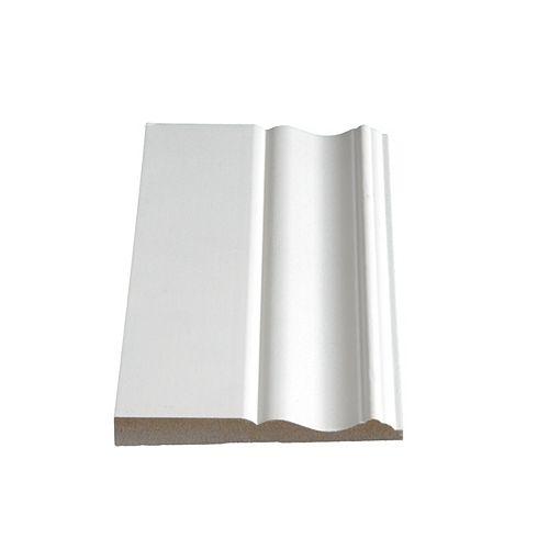 1/2-inch x 4 1/4-inch MDF Primed Fibreboard Baseboard Moulding
