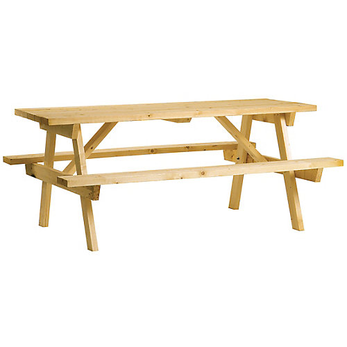 Solid pine picnic table