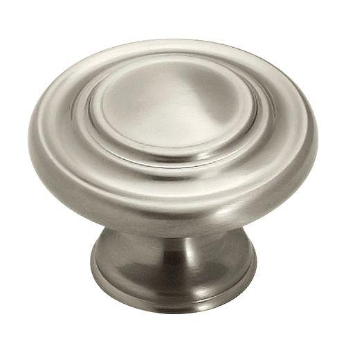 1-3/8-inch Satin Nickel Cabinet Knob