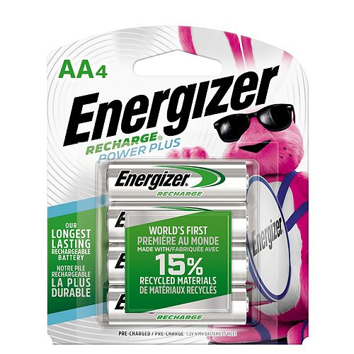 Energizer Energizer Recharge Power Plus Rechargeable AA Batteries, 4 Pack