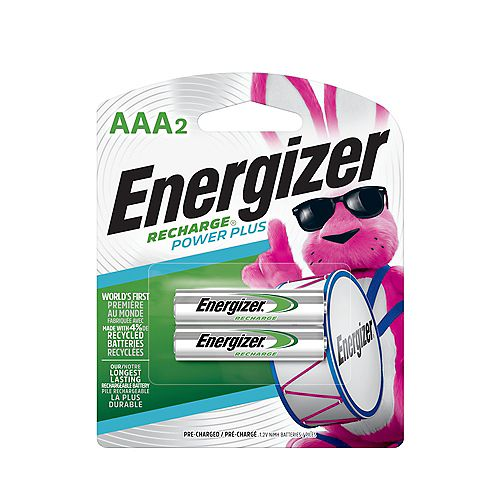 Energizer Energizer Recharge Power Plus Rechargeable AAA Batteries, 2 Pack