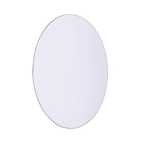 Miroir ovale muni de trous - pivot - 21 po x 31 po