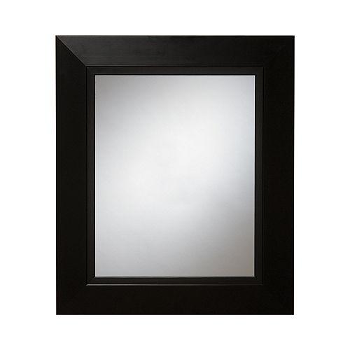 Miroir mural noir Zen, 23 po x 27 po