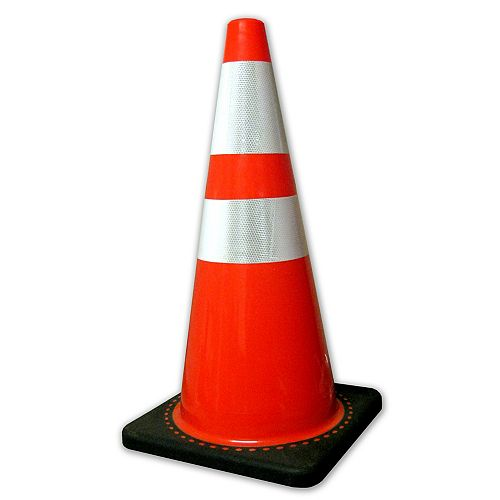 Traffic Cone 28 inches 5Lb Base Q