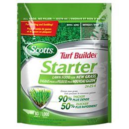 Turf Builder Starter Lawn Food 24-25-4    1.4kg (93m², 1,000ft²)