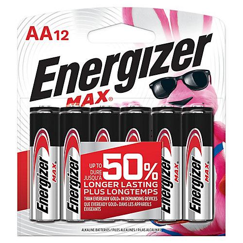 Paquet de 20 piles alcalines AA Energizer MAX Notre pile AA max. La plus durable depuis longtemps