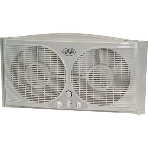 9 In. Window Fan With Thermostat