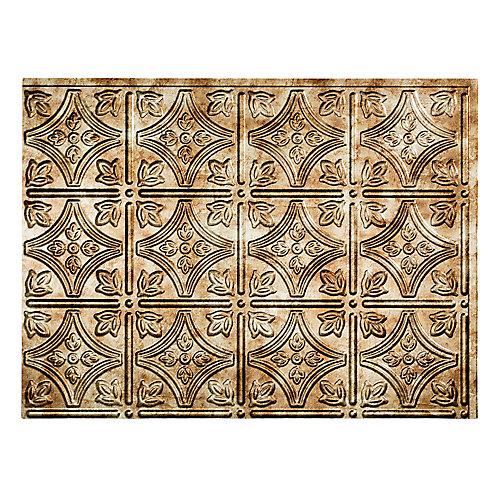 Traditional 1 Bermuda Bronze 18 po x 24 po Panneau en PVC Pour Dosseret