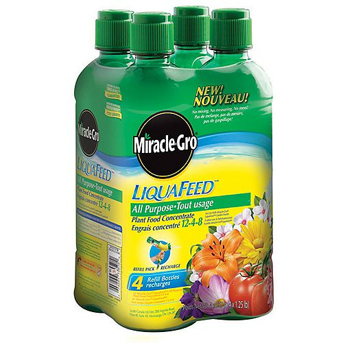 Miracle-Gro LiquaFeedMC tout usage – Emballage de 4 recharges