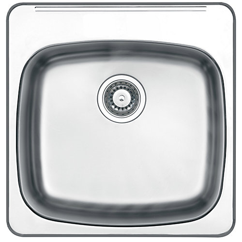 "Drop In 10"" Deep Stainless Steel Laundry Sink"