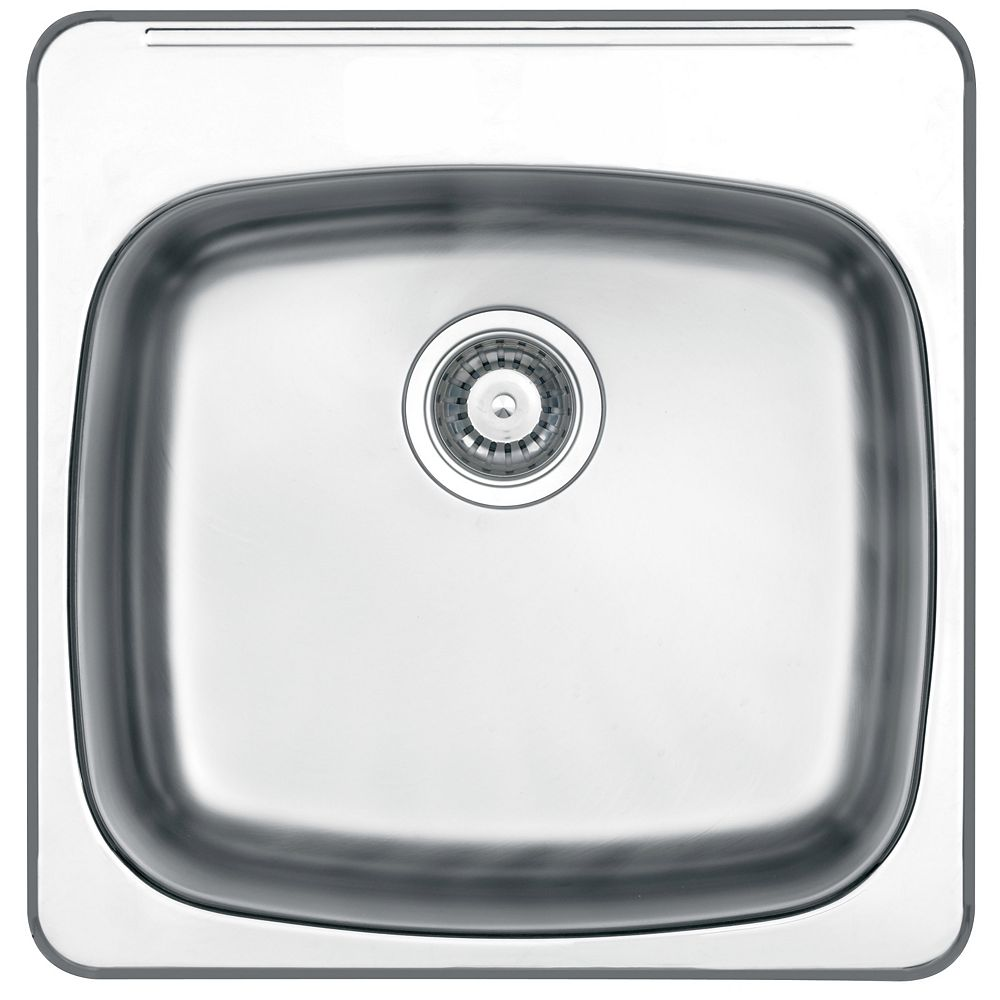 """Wessan Drop In 10"""" Deep Stainless Steel Laundry Sink"""