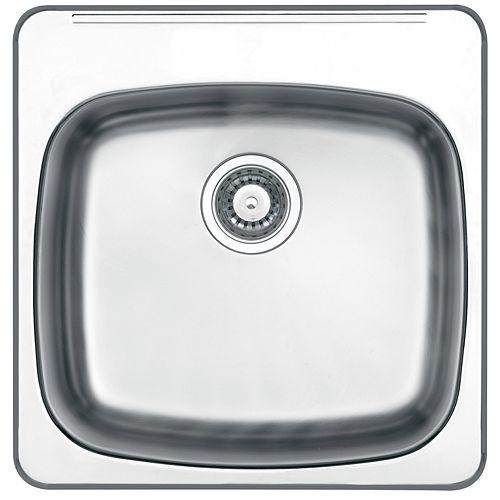 "Drop In 10"" Deep Stainless Steel Laundry Sink"