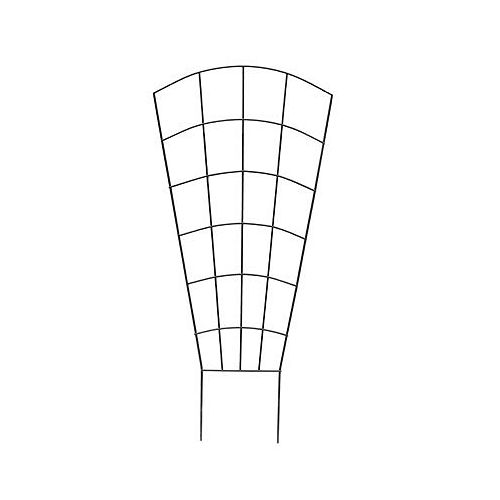 37-inch Green-Vinyl Coated Pot Trellis