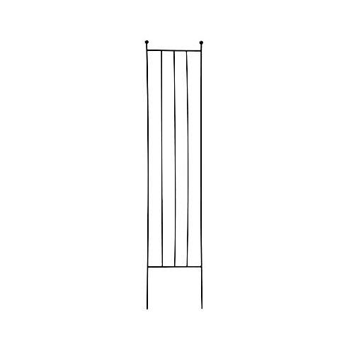 "72"" X 15"" SPIRALE SIMPLE - TREILLIS RECTANGLE - NOIR"