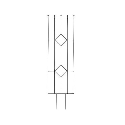 72-inch x 20-inch Gems Trellis in Black
