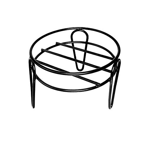 15-inch x 10-inch Simple Plant Stand in Black