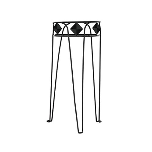 27-inch Diamond Plant Stand in Black