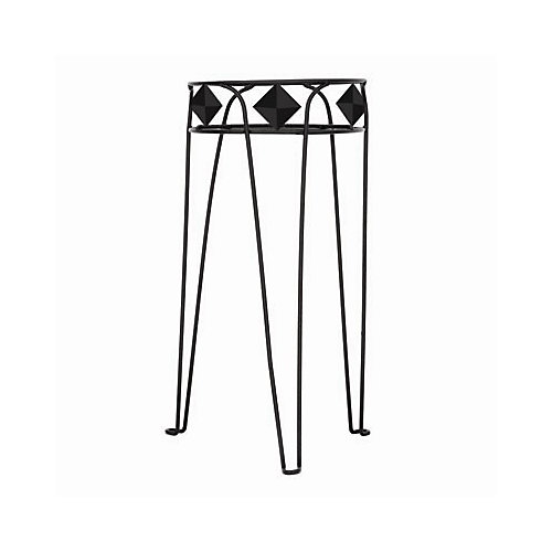 15-inch Diamond Plant Stand in Black