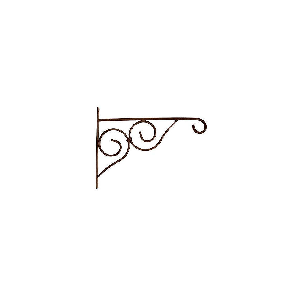 Peak Products 15-inch Victorian Plant Bracket in Rust