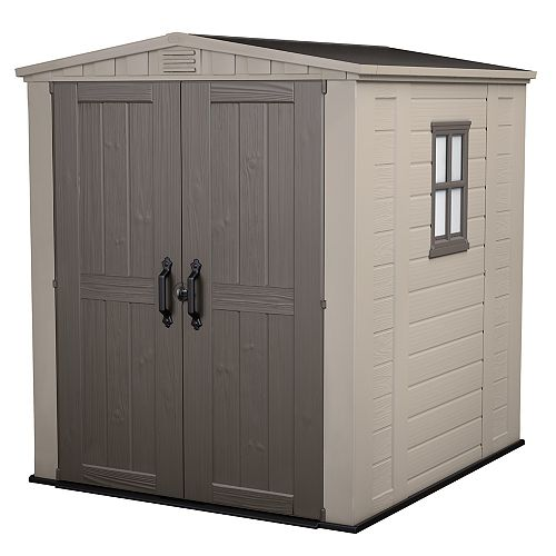 Factor 6 ft. x 6 ft. Shed in Taupe