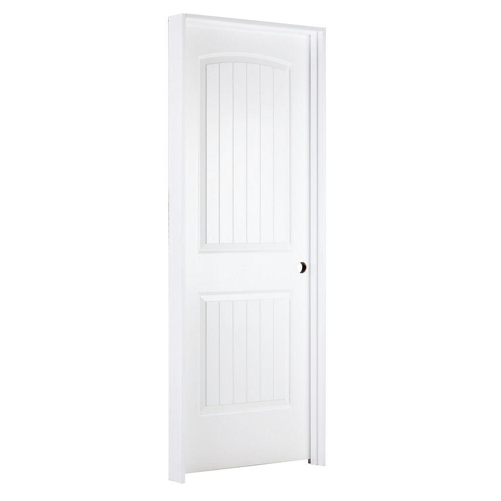 JELD-WEN Windows & Doors 30-inch W Santa Fe Style Moulded Panel Prehung Interior Door Hinged on Left