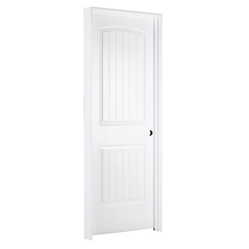 JELD-WEN Windows & Doors 30-inch W Santa Fe Style Moulded Panel Prehung Interior Door Hinged on Left
