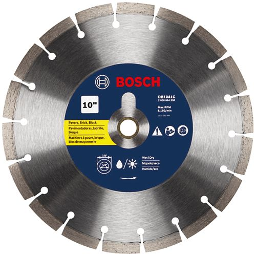 Bosch 10 inch Premium Segmented Rim Diamond Blade for Universal Rough Cuts
