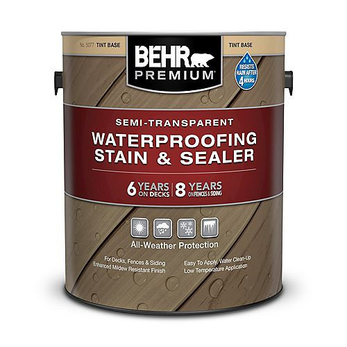 3.79L Semi-Transparent Waterproofing Stain & Sealer - Tint Base No. 5077