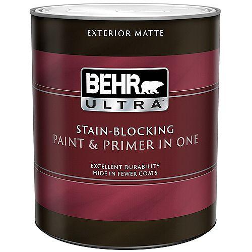 ULTRA Peinture et apprêt en un extérieur fini mat - Blanc ultra pur, 946 ml