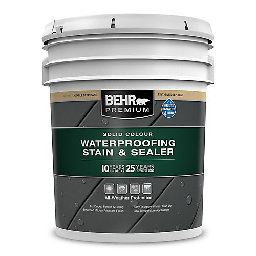 PREMIUM Solid Colour Weatherproofing Stain & Sealer - Deep Base No. 5013, 18.9 L