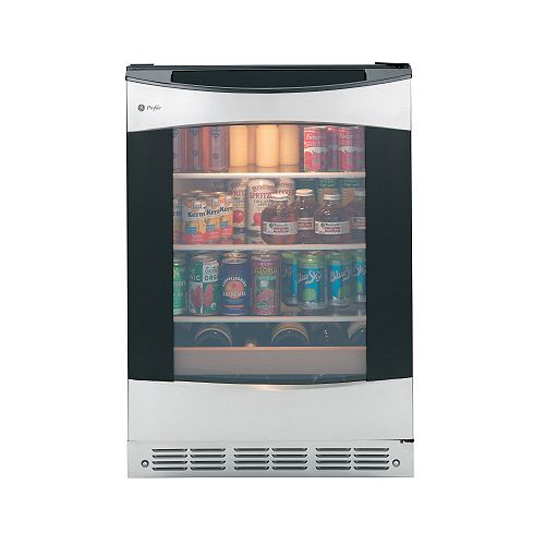 Profile 12-Bottle Beverage Cooler in Stainless Steel