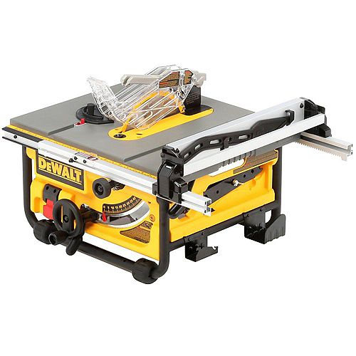 DEWALT 15-amp Corded 10-inch Compact Job Site Table Saw with Site-Pro Modular Guarding System