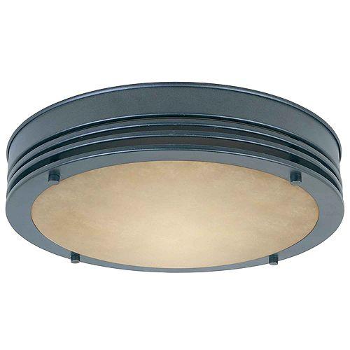Hampton Bay Plafonnier encastré de 33 cm à 1 lumière, fini bronze huilé