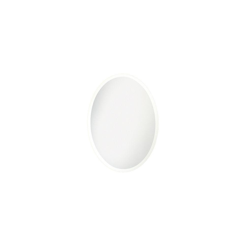 HDG Miroir ovale biseauté, 24po x 36po