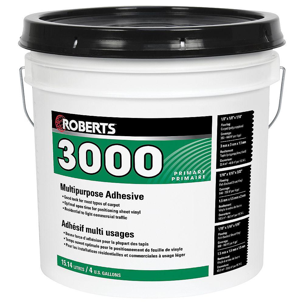 Roberts 3000 Adhésif à Usages Multiples pour Tapis et Feuilles de Vinyle, 15L