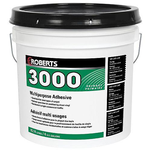 Roberts 3000, 15L Multi-Purpose Carpet and Sheet Vinyl Adhesive and Glue