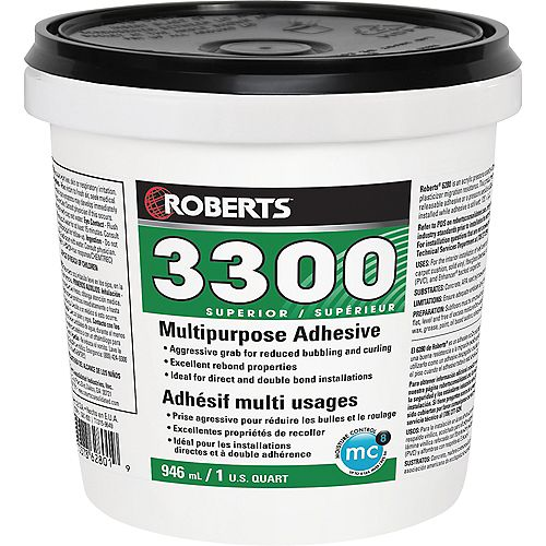 3300 Max, 946mL Performance+ Carpet and Sheet Vinyl Flooring Adhesive and Glue