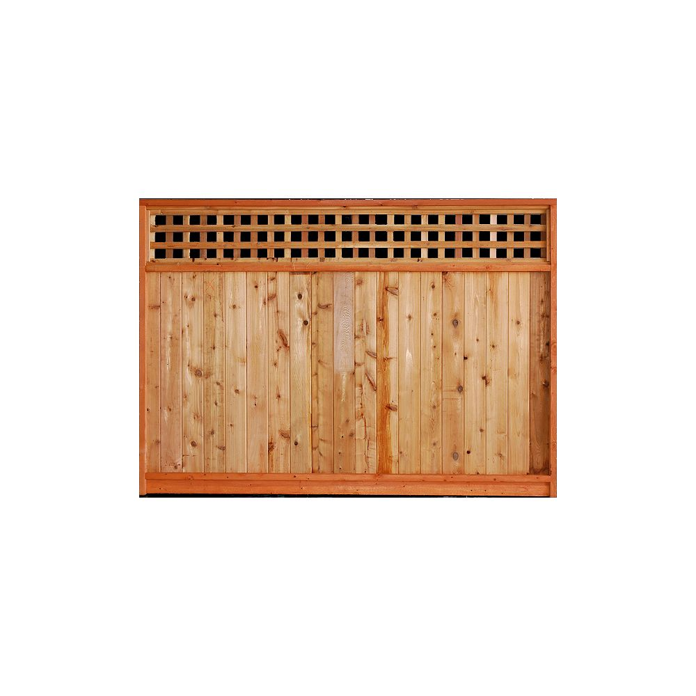 AIM Cedar Works 6 x 8 Panneau de treillis carré en cèdre de qualité supérieure