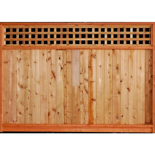 AIM Cedar Works 6x8 Premium Cedar Square Lattice Panel