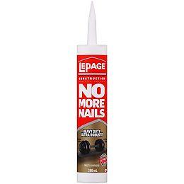 LePage No More Nails Heavy Duty Construction Adhesive, 266 ml