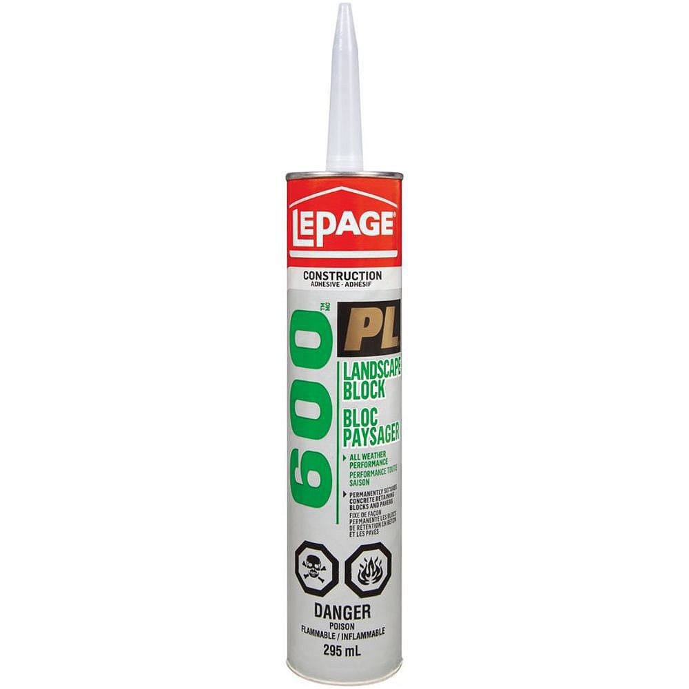 Lepage Pl 600 295ml Landscape Block Construction Adhesive The Home Depot Canada