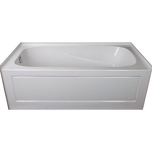 Sydney 5-ft.. Rectangular Left-Hand Alcove Acrylic Non-Whirpool Bathtub in White