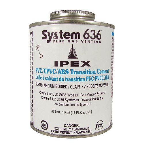 ABS/PVC TRANSITION CEMENT - 473ml - SYSTEM 636