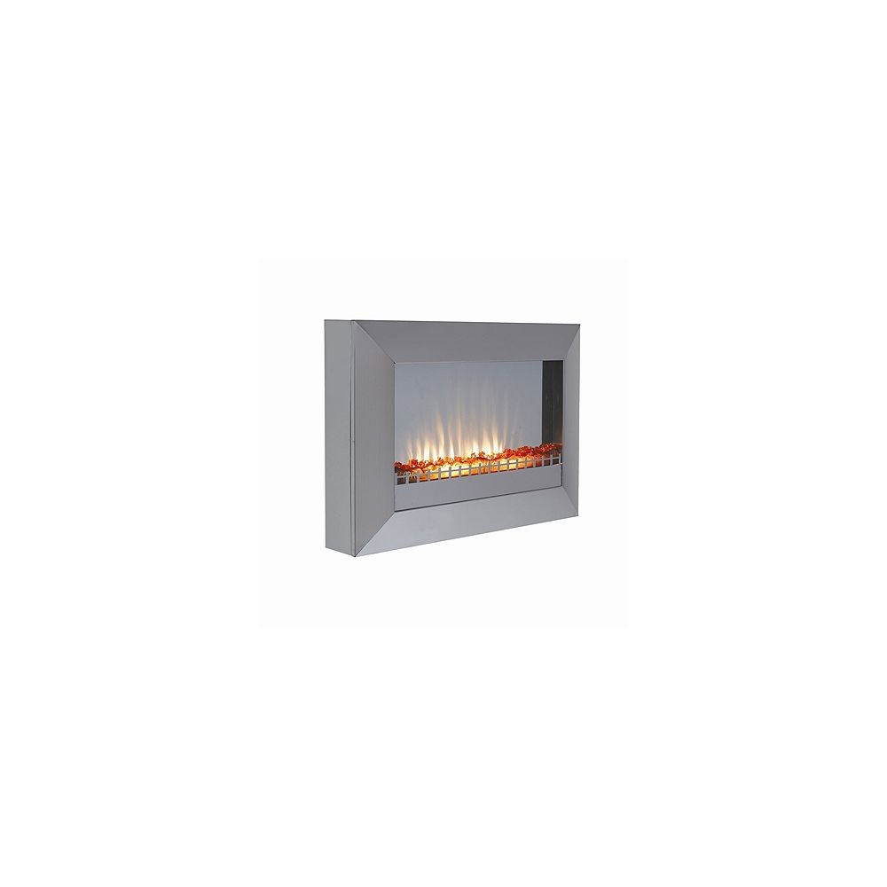 Paramount Plasma Wall Mount Electric Fireplace - Stainless Steel