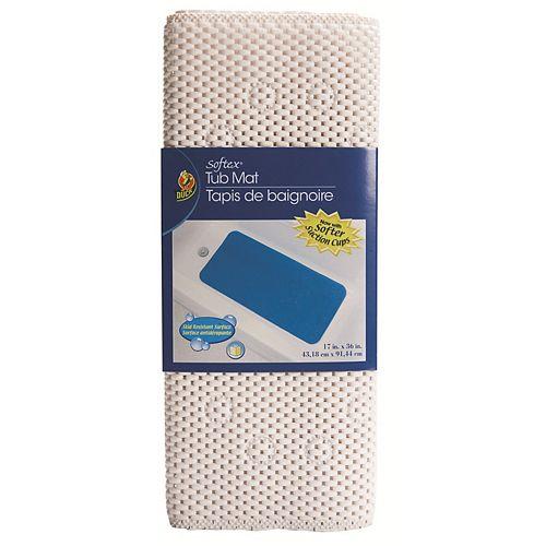 Duck Brand Softex White Bath Mat