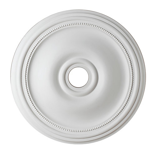 60,96cm Medallion, fini matte blanc