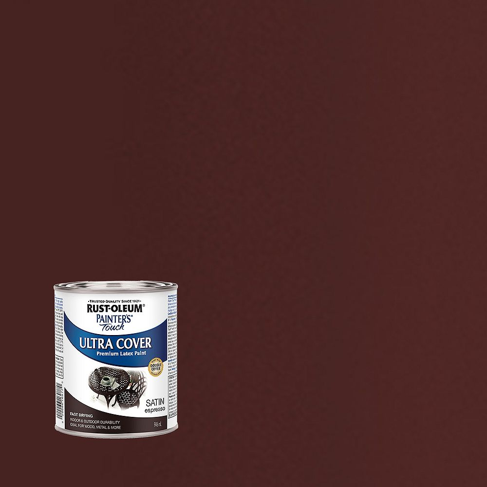 Rust-Oleum Painter's Touch Peinture Multi Usages En Expresso Satiné - 946 mL