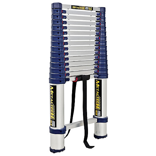 15.5 feet. Telescopic ladder