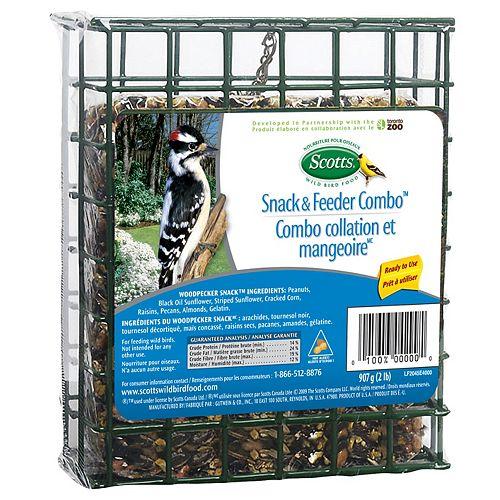 Woodpecker Snack & Basket 907G